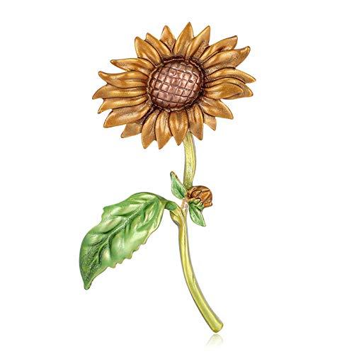 SANWOOD Sunflower Enamel Brooch Pin Elegant Lapel Pin Creative Cartoon...