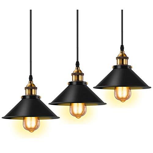 3 Packs Retro Zwart Metalen Wandlampen, E27 Verstelbare Wand Industriële Stijl Lampenkap, Slaapkamer Nachtkastje Woonkamer Woonkamer Studie Spiegel Voorlamp (exclusief Lamp)