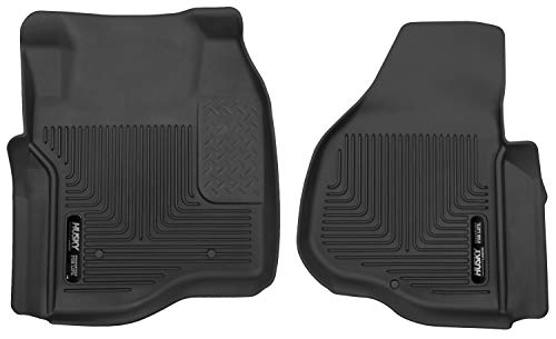 Husky Liners - 53301 Fits 2011-16 Ford F-250/F-350 Crew Cab/SuperCab X-act Contour Front Floor Mats Floor Liners - Front