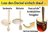 Bellmot 1 STK. Honiglöffel inkl. Deckel aus Holz. Honig Dipper. Honig Löffel - 4