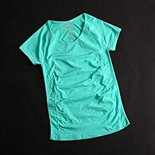 BEESCLOVER Women Professional Yoga Shirts Top Fitness Running Gym Sports T Shirt Quick Drying Short Tees Jogging Exercises Tops Green S