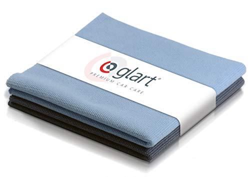 Glart - Pack de dos paños de microfibra para limpiar ventanas y cristales del coche, 40 x 40 cm, Rojo (42AB)