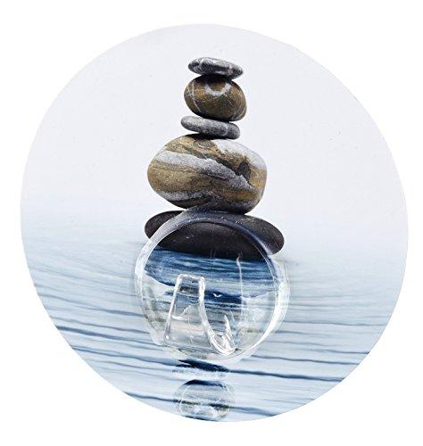 Wenko 20942100 Static-Loc Wandhaken Uno Meditation, Befestigen ohne bohren, Polyethylenterephthalat, 8.5 x 2 x 8.5 cm, Mehrfarbig
