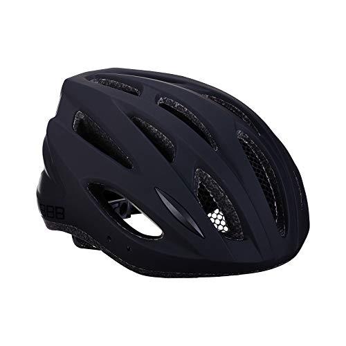 BBB Cycling-Casco da Bicicletta Condor, da Donna e da Uomo, Visiera Rimovibile e zanzariera, per MTB e Bici da Corsa, BHE-35, Nero Opaco, M (54-58 cm) Unisex Adulto