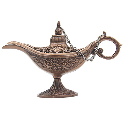 Classic Vintage Coleccionable rara leyenda Aladdin Magic Genie lámpara de olla casa decoración de mesa & regalo