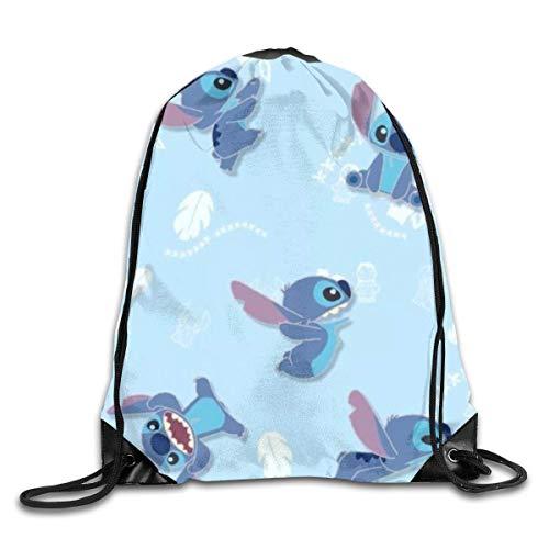 Etryrt Stitch Mochila de Cuerda Bolsas de Gimnasia Print Shoulder Bags Sackpack Sport Gym Backpack Storage Bag