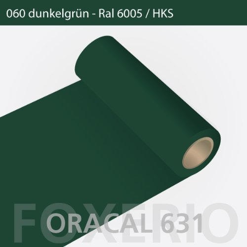 Orafol - Oracal 631 - 31cm Rolle - 5m (Laufmeter) - Dunkelgrün / matt, A22oracal - 631 - 5m - 31cm - 24 - kl - Autofolie / Möbelfolie / Küchenfolie