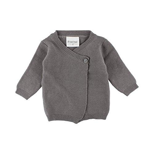 FIXONI LITTLE BEE Le gilet en maille pour prématuré veste bébé vêtements bébé, 01-71 Grey Melange