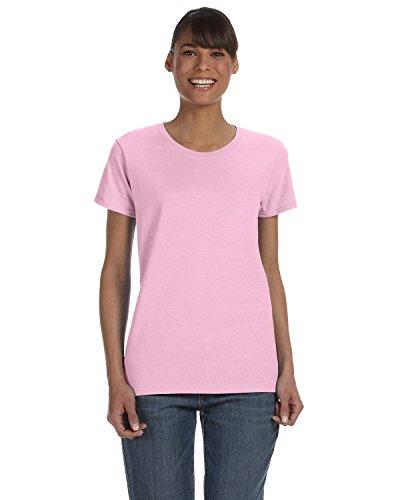 Gildan 5000L – Camiseta para mujer, de algodón pesado, primera calidad, color rosa claro, 2XL