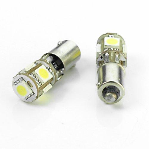 2 X Nouveau BA9S H6W 5 5050 SMD LED Canbus Ampoule pour Feu de Stationnement