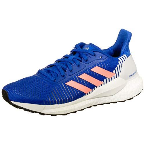 adidas Solar Glide ST 19 W, Zapatillas de Running Mujer, Glory Blue/Light Flash Red/Grey One F17, 42 2/3 EU