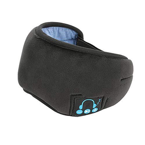 Masque de Nuit Bluetooth, Achort Masque de Sommeil Casque Musical Bluetooth 5.0 Sans Fil avec Haut-parleurs Intégrés Microphone pour dormir/voyager