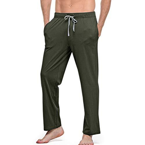 Clicks pyjama lang heren vrije tijd broek koord uni kleur 100% katoen met 2 zakken