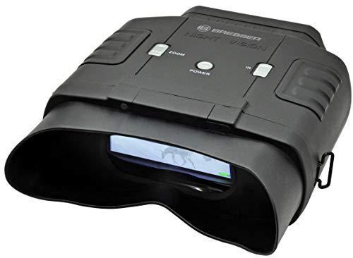 Bresser digitales binokulares Nachtsichtgerät 3x20 mit großem Display für komfortables Beobachten bei Tag und Nacht mit integrierter 7-stufiger Infrarotbeleuchtung inklusive Transporttasche