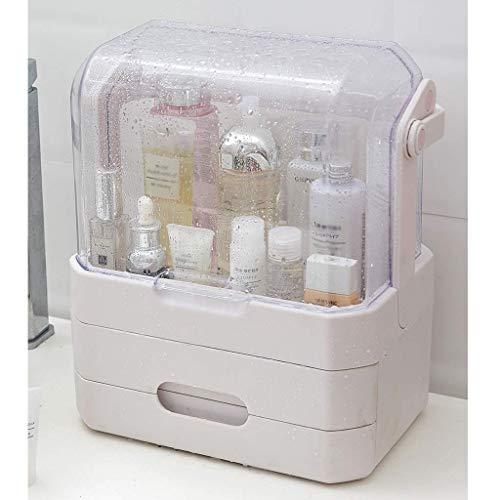 Maquillage Sac de grande capacité multi-couche multi-fonctionnelle cosmétique Boîte de rangement étanche à la poussière et le support en acrylique imperméable Soins de la peau Rouge à lèvres Masque Bo