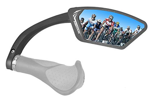 Venzo Bicycle Bike Handlebar Mount Mirror Blue Lens 75%...