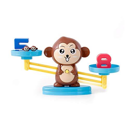 TrifyCore Brettspiel Math Balancing Maßstab Spielzeug Educational Mathematik Werkzeug pädagogisches Spielzeug für Kinder Aufklärung Digitaler Addition und Subtraktion Affe-Art-1Set
