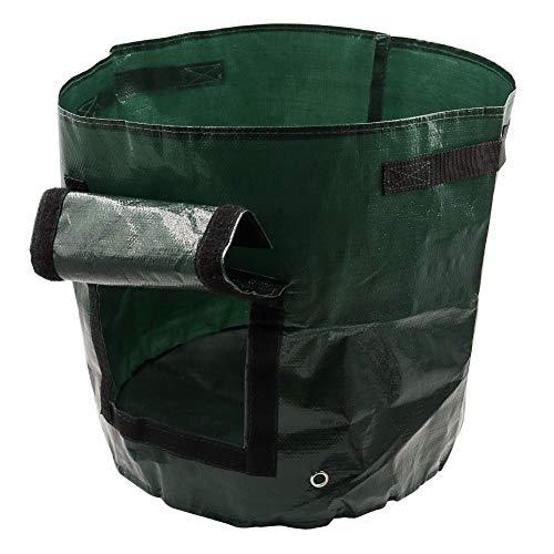 Pflanztaschen ca 32 Liter Stofftaschen Pflanztaschen mit Belüftung Kartoffelpflanztaschen mit Lasche Packung mit 2