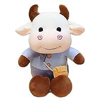 [HR株式会社] ぬいぐるみ 牛の縫い 35cm み 抱き枕 かわいい おもちゃ キャラクター 動物 子供 記念日 プレゼント ウシ パープル
