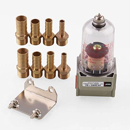 Filtro de combustible universal en línea para coche, mini filtro de impurezas del motor, separador de aceite del motor, puede atrapar el depósito (plateado)