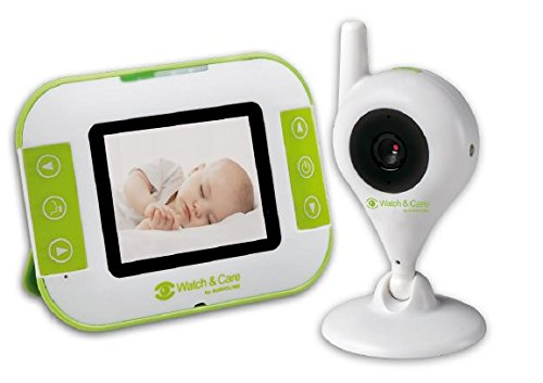Audioline, Watch and Care V140, Video-Babyphone mit Nachtlicht und Gegensprechfunktion