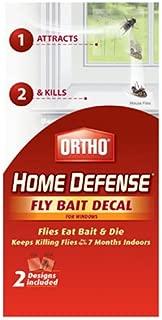 Ortho Home Defense Fly Killer Window Decal, 2-Pk