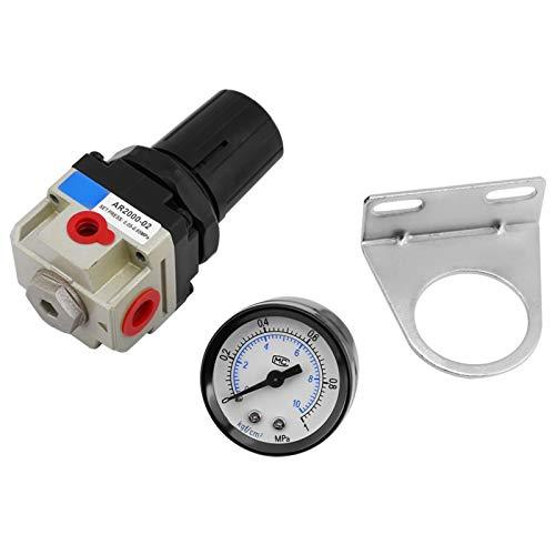 Regulador de presión del filtro de aire, regulador de presión del filtro de la unidad de tratamiento de gas de la fuente de aire G1 / 4 AR2000-02 con manómetro