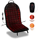 Zone Tech Car Heated Seat Cover Cushion Hot Warmer - Fireproof New and Improved 2021 Version 12V Heating Warmer Pad Cover Perfect for Cold Weather and Winter Driving