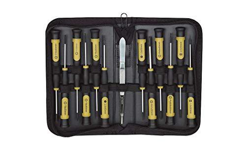 Proxxon 22720 22720-Set di cacciaviti Micro Driver 13 Pezzi (con Custodia, Intaglio/a Croce/TX/HX, Impugnatura ergonomica)