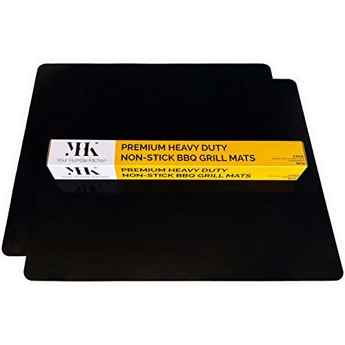 YHK 2 Pack Medium Non-Stick Oven Liners - Premium Protectors for The Bottom of Electric, Gas, Convection & Fan Ovens - Reusable Grill Mat Accessory - Never Clean Your Grill or Oven Floor Again