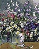 yaonuli DIY Pintar por númerosNakano Bouquet en un jarrón Blanco para Sala Lienzo Pintura 40x50cm Sin Marco