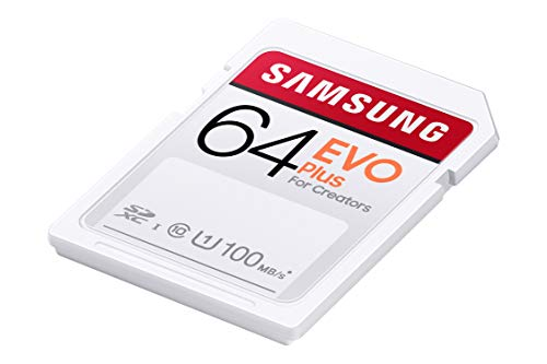 Samsung EVO Plus 64GB SDXC UHS-I U1 100MB/s Full HD Speicherkarte (MB-SC64H/EU)
