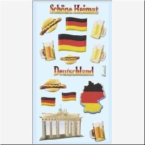 Softy-Sticker, Deutschland, Brandenburger Tor, Deutschlandfahne,Bierkrug,