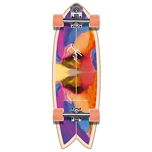 YOW Coxos 31' Dream Waves Series Surfskate Skateboard, Adultos Unisex, Multicolor (Multicolor)