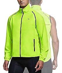 in budget affordable BALEAF Men's Cycling Jacket Windbreaker Running Vest Windproof Waterproof Coat High …