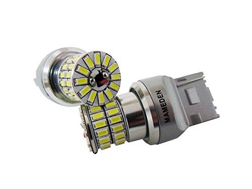 まめ電(MAMEDEN) T20 MIRA-SMD 車検対応 LEDバルブ ウェッジ球 ホワイト バックランプ専用