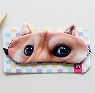 Funny Sleep Mask Doge Dog Adjustable Eye Mask Travel Gift