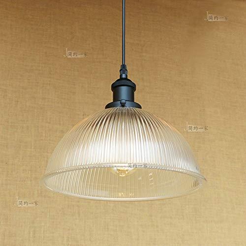 Hangende lampen Nordic Loft Peeling glas plafondhanglamp antiek nostalgische ronde lampenkap hanglamp bar hotel restaurant plafond droplight