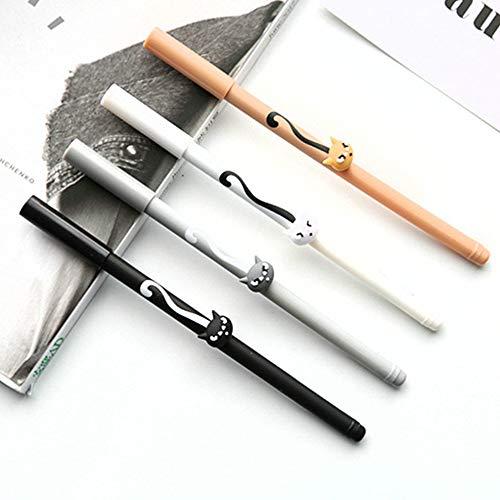 FidgetGear - Bolígrafos de Punta de Bola (6 Unidades), diseño de Gato, Show, tamaño único
