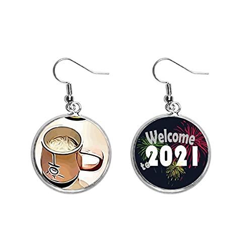 Efecto Esquema Mellow Drink Leche Tea Ear Colgantes Pendientes Joyería 2021 Bendición
