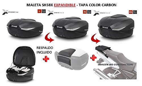 SHAD Kit BAUL Maleta Trasero SH58X litros + FIJACION + Respaldo Pasajero...
