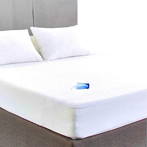 Sunshine Bettwäsche Terry Toweling Wasserdichter Matratzenschoner, extra tiefes Spannbetttuch, White Mattress Cover, Single Bed Mattress Protector