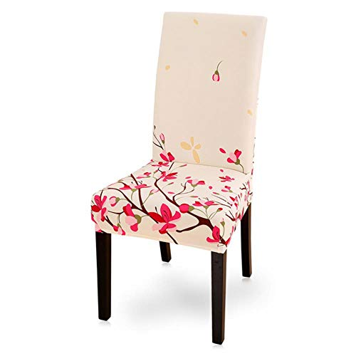 NA 1/2/4 / 6Pcs Print Stuhlhussen Home Dining Elastic Chair Covers Multifunktionale Spandex Elastic Cloth Universal Stretch Cover, 8, China