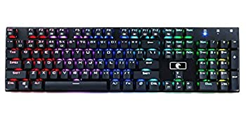 Granvela MechanicalEagle Z-88 Mechanical Gaming Keyboard with 9-Mode RGB LED Backlit Cherry MX Equivalent Outemu Tactile and Clicky Blue Switches -Solder Free DIY Replaceable Black