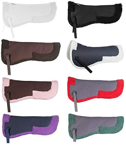 NETPROSHOP Kunstfellpad, Sattelkissen, Sattelpad Pony oder Full, Groesse:Full, Farbe:Schwarz