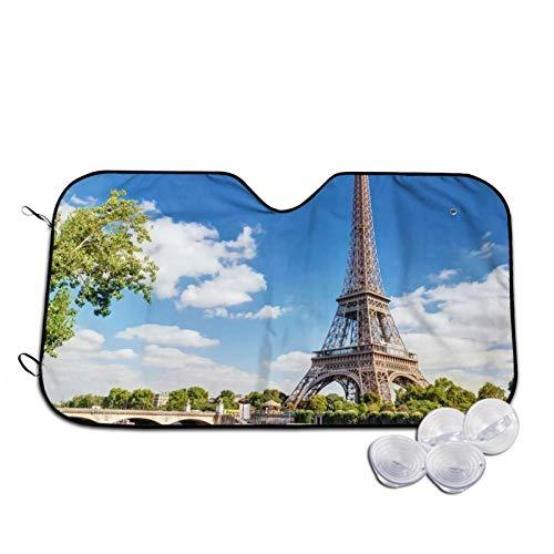 Sombrillas de coche de la Torre Eiffel Francia París Frontal de la Ventana de la Moda Accesorios Interior del Vehículo Anti-UV Sombra