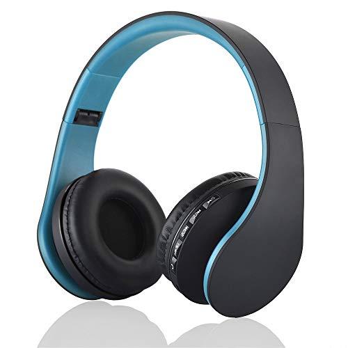 Docooler Auriculares Diadema Inalámbricos,Auriculares estéreo Plegables inalámbricos Bluetooth 4.1,Auriculares con Cable de 3,5 mm Reproductor de MP3 Radio FM Manos Libres con micrófono