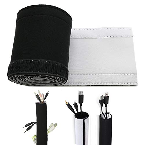 59inch Neoprene Cable Management Sleeve Neoprene Cord Organizer Neoprene Flexible Cable Cover Neoprene Cable Protector