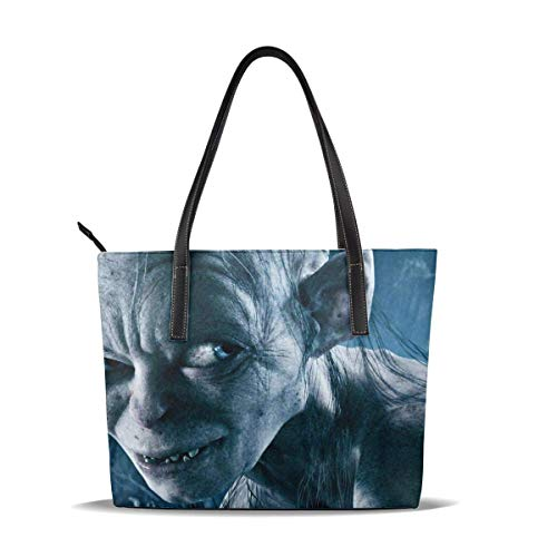 Lo-rd Ri-ng Tote Bag For Women Leather Zipper Handbags,Big Capacity Waterproof Durable Inside 1 Zipper Pocket Suitable For Work Travel Shopping Party