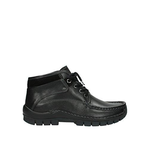 Wolky Damen Stiefeletten Cross Winter Tresor Leather 0472830/000 000 schwarz 393785